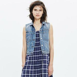 Madewell The Pocket Jean Vest Medium Wash Denim